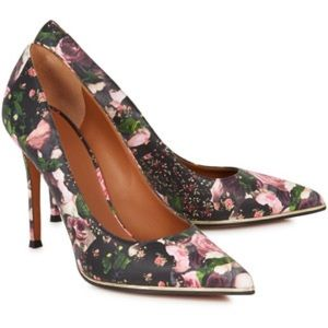 GIVENCHY FLORAL MID-SOLE POINTY PUMP MINT COND